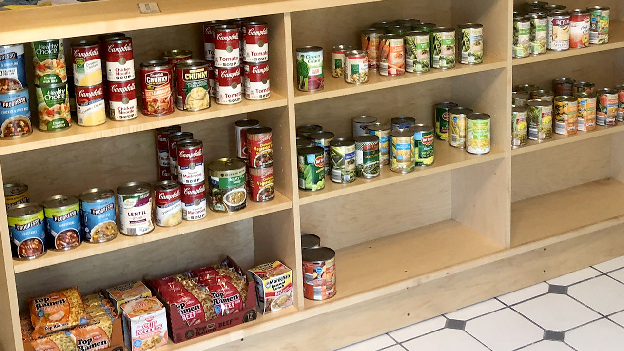 Donate food or cash to the pantry